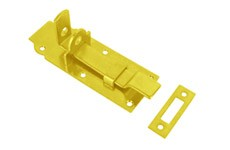 CLOSED LATCH WITH BENT LOCK BOLT