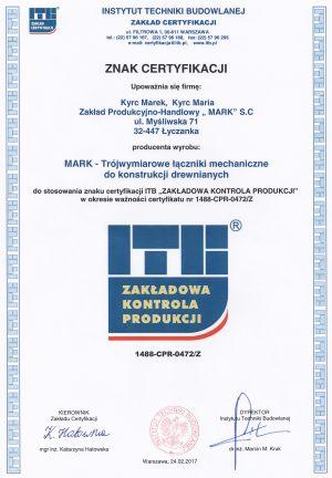 Znak certyfikacji trójwymiarowe łączniki